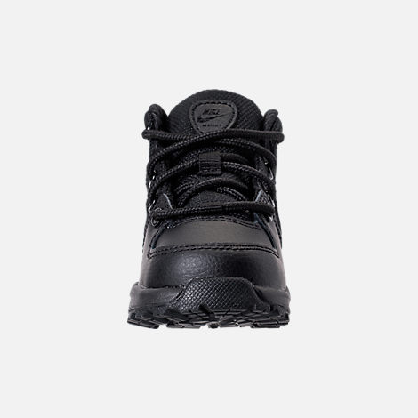 Front view of Boys' Toddler Nike Manoa '17 Boots in Black/Black/Black