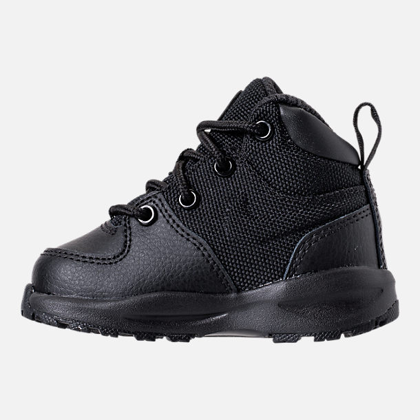 Left view of Boys' Toddler Nike Manoa '17 Boots in Black/Black/Black