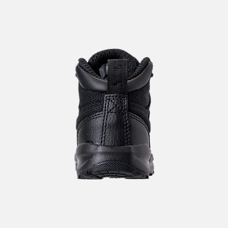 Back view of Boys' Toddler Nike Manoa '17 Boots in Black/Black/Black