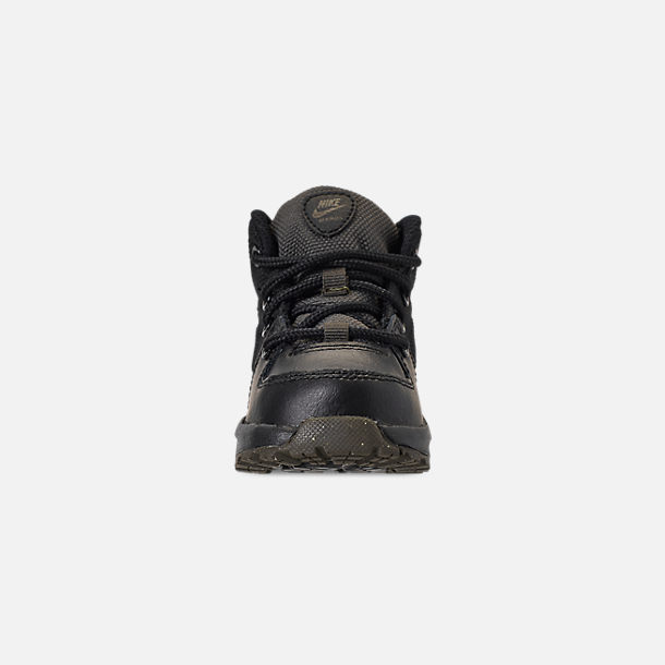 Front view of Boys' Toddler Nike Manoa '17 Boots in Black/Black/Newsprint