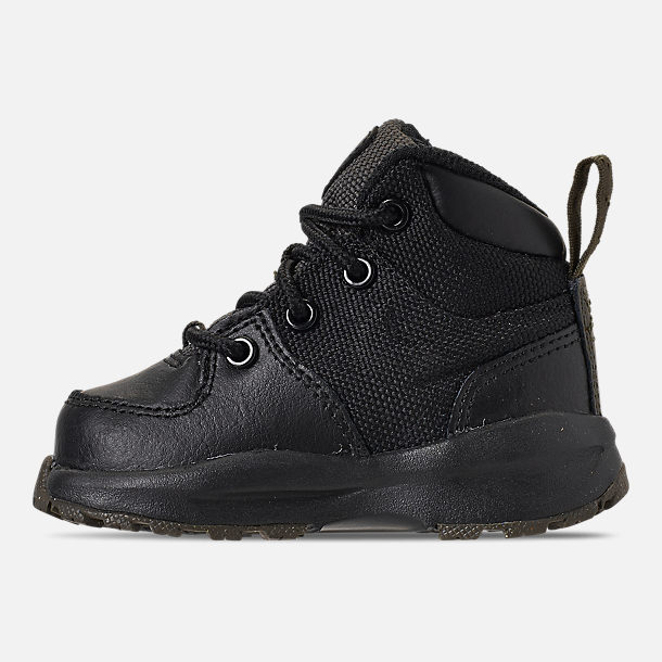 Left view of Boys' Toddler Nike Manoa '17 Boots in Black/Black/Newsprint