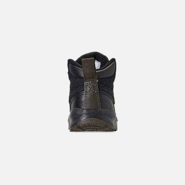 Back view of Boys' Toddler Nike Manoa '17 Boots in Black/Black/Newsprint