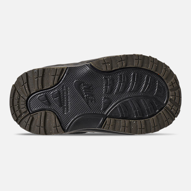 Bottom view of Boys' Toddler Nike Manoa '17 Boots in Black/Black/Newsprint