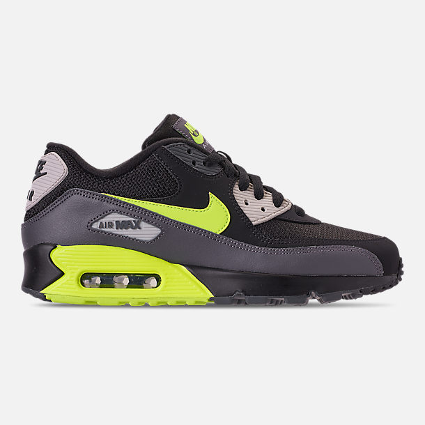 5d1dc5707bf052 Right view of Men s Nike Air Max 90 Essential Casual Shoes in Dark Grey Volt