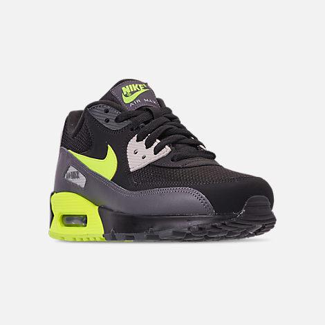 9a235a140e837c Three Quarter view of Men s Nike Air Max 90 Essential Casual Shoes in Dark  Grey