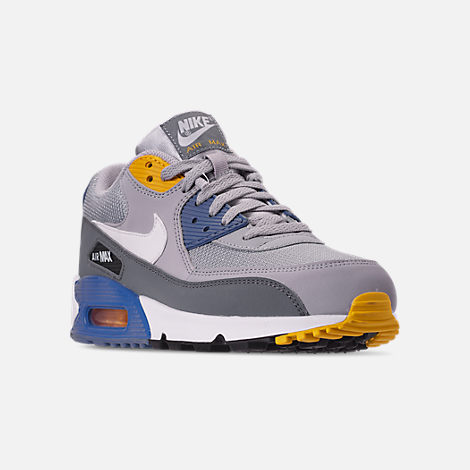 size 40 8cd92 33bc3 Three Quarter view of Men s Nike Air Max 90 Essential Casual Shoes in Wolf  Grey