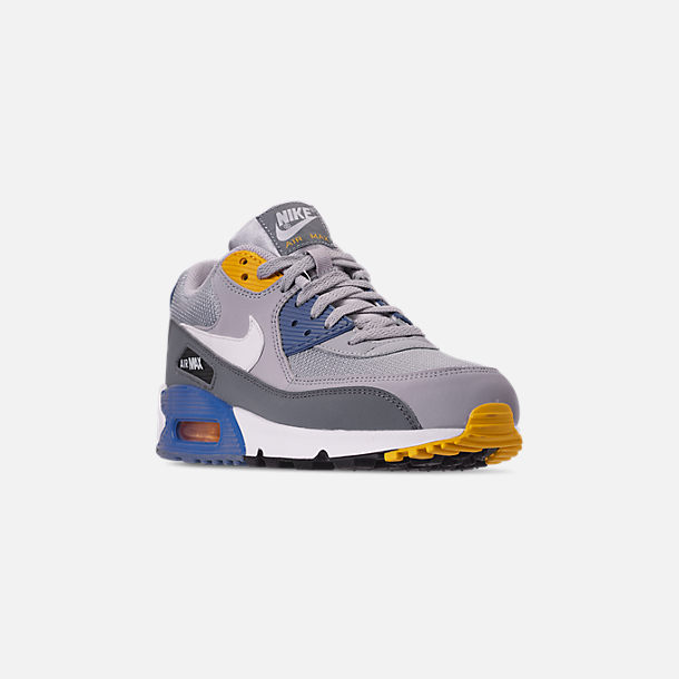size 40 be43c f6cb3 Three Quarter view of Men s Nike Air Max 90 Essential Casual Shoes in Wolf  Grey
