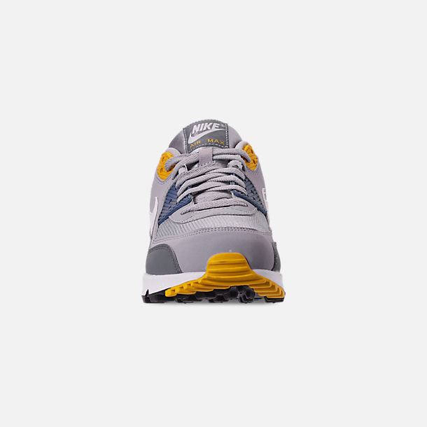 finest selection 377cd 823a6 Front view of Men s Nike Air Max 90 Essential Casual Shoes in Wolf Grey  White