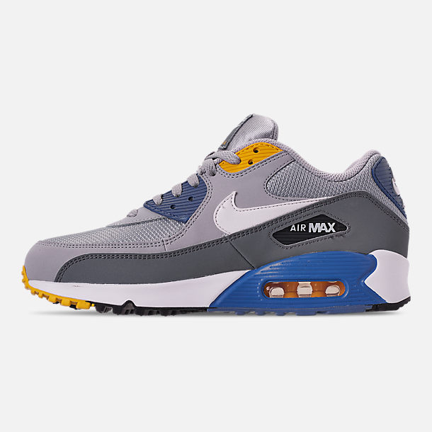 wholesale dealer f296a 2098c Left view of Men s Nike Air Max 90 Essential Casual Shoes in Wolf Grey White