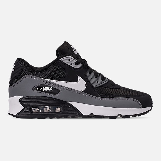 2fd0f8bc64f Right view of Men s Nike Air Max 90 Essential Casual Shoes in Black White