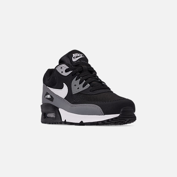 check out 5b1c0 f411a Three Quarter view of Men s Nike Air Max 90 Essential Casual Shoes in  Black White