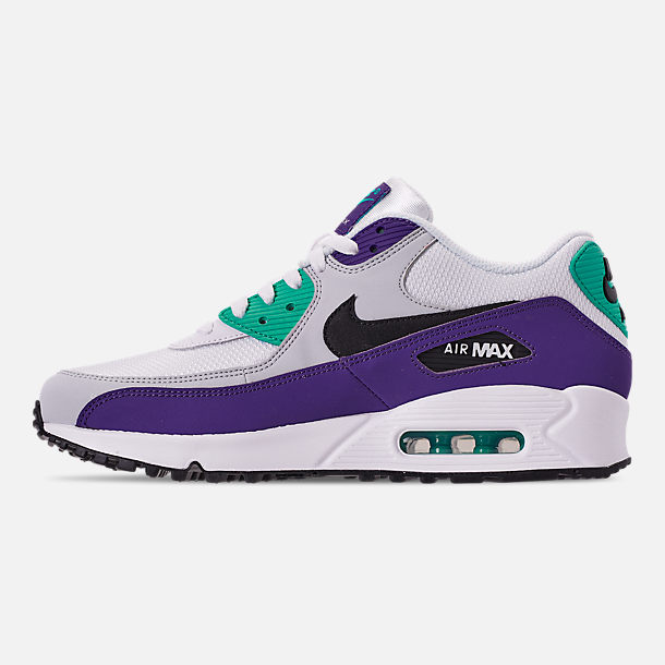 2e9819785a5d Left view of Men s Nike Air Max 90 Essential Casual Shoes in White Black