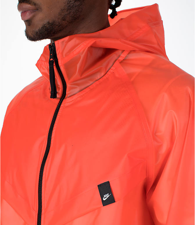 Detail 1 view of Men's Nike Sportswear HD QS Windrunner Jacket in Team Orange