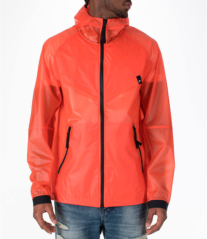 Front view of Men's Nike Sportswear HD QS Windrunner Jacket in Team Orange