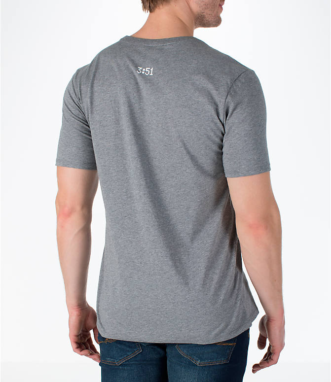 Back Right view of Men's Jordan Sportswear 1988 Dunk T-Shirt in Carbon Heather