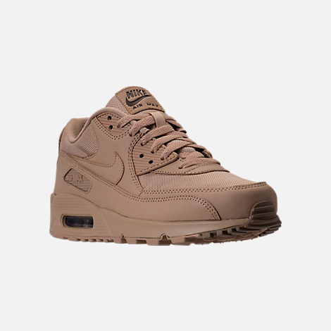 Three Quarter view of Men's Nike Air Max 90 Ballistic Running Shoes in Mushroom/Mushroom/Khaki