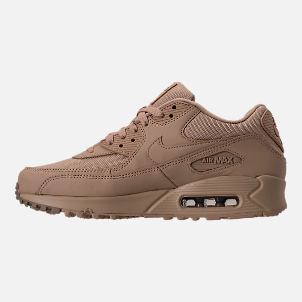 Left view of Men's Nike Air Max 90 Ballistic Running Shoes in Mushroom/Mushroom/Khaki