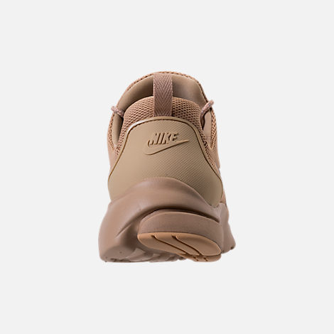Back view of Men's Nike Presto Fly Ballistic Casual Shoes in Mushroom/Khaki/Baroque Brown