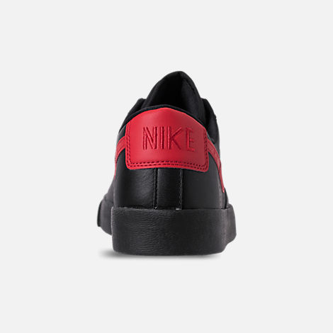 Back view of Women's Nike Blazer Low Casual Shoes in Black/University Red/Red