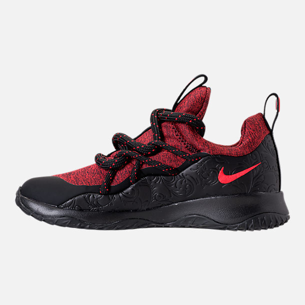 Left view of Women's Nike City Loop Floral Casual Shoes in Black/University Red/Red