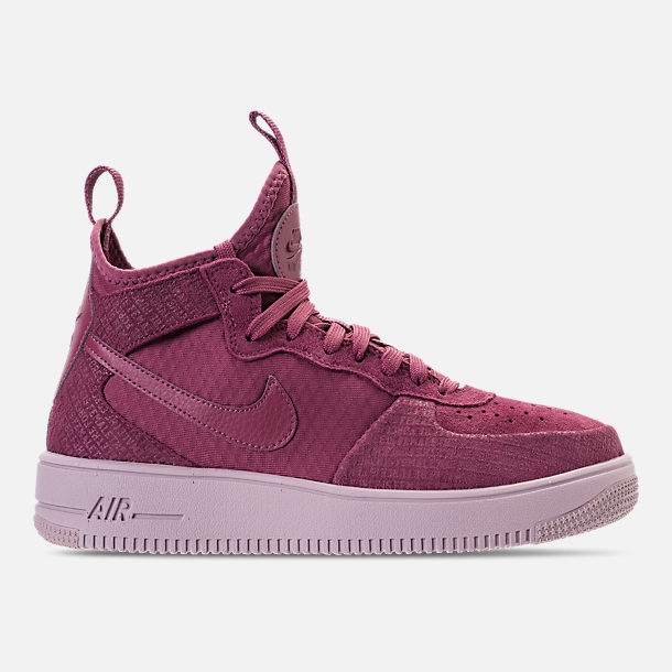 Right view of Women's Nike Air Force 1 Ultraforce Mid FIF Casual Shoes in Vintage Wine/Vintage Wine/Particle