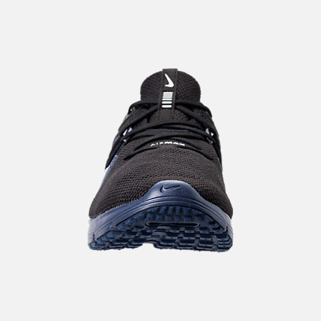 Front view of Men's Nike Air Max Sequent 3 SE Running Shoes in Black/Black/Navy Blue/White