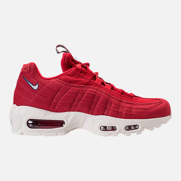 Right view of Men's Nike Air Max 95 TT Casual Shoes in Red/White/Blue