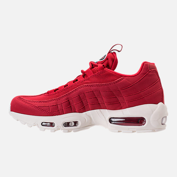 Left view of Men's Nike Air Max 95 TT Casual Shoes in Red/White/Blue
