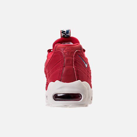 Back view of Men's Nike Air Max 95 TT Casual Shoes in Red/White/Blue