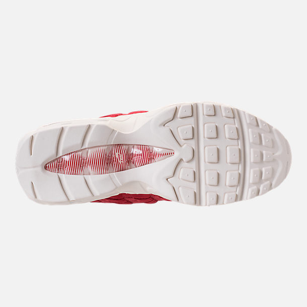 Bottom view of Men's Nike Air Max 95 TT Casual Shoes in Red/White/Blue