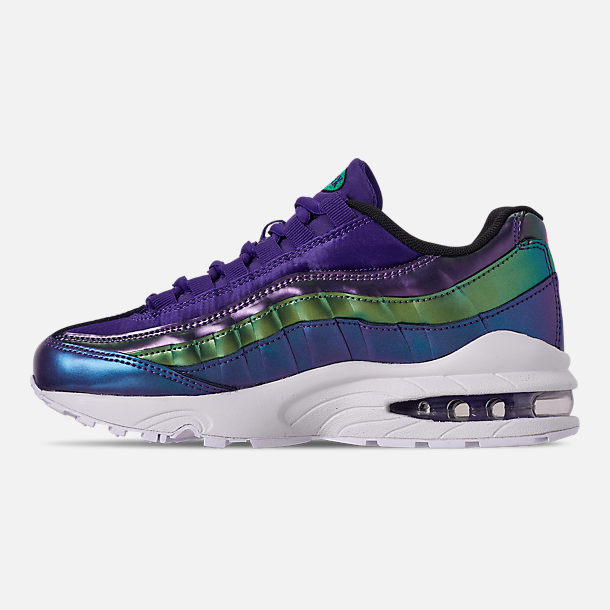 Left view of Girls' Big Kids' Nike Air Max 95 SE Casual Shoes