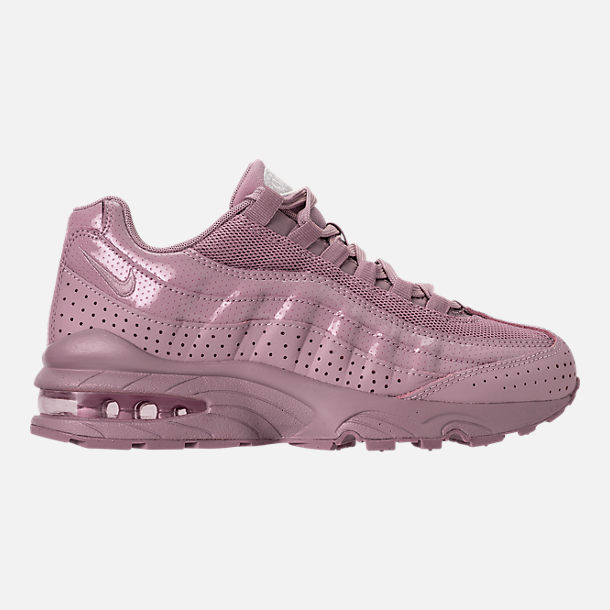 Right view of Girls' Grade School Nike Air Max 95 SE Casual Shoes in Elemental Rose/Elemental Rose