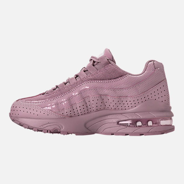 Left view of Girls' Grade School Nike Air Max 95 SE Casual Shoes in Elemental Rose/Elemental Rose