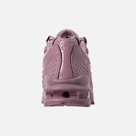 Back view of Girls' Grade School Nike Air Max 95 SE Casual Shoes in Elemental Rose/Elemental Rose