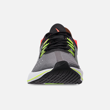 Front view of Boys' Big Kids' Nike EXP-X14 Running Shoes in Black/Volt/Total Crimson/Dark Grey