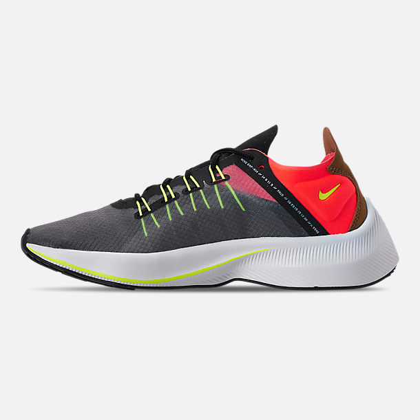 Left view of Boys' Big Kids' Nike EXP-X14 Running Shoes in Black/Volt/Total Crimson/Dark Grey