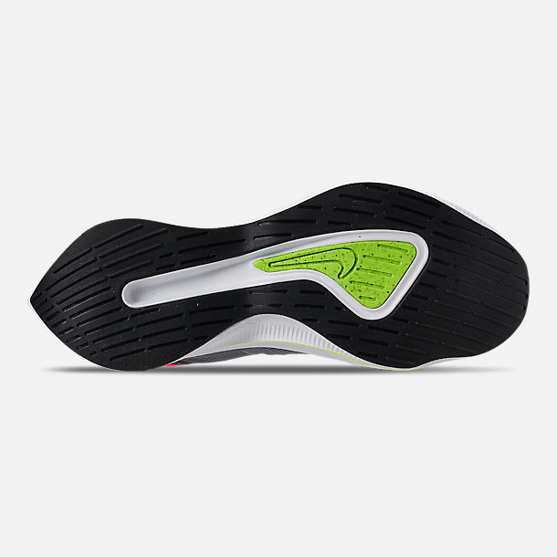 Bottom view of Boys' Big Kids' Nike EXP-X14 Running Shoes in Black/Volt/Total Crimson/Dark Grey