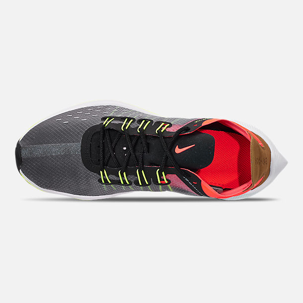 Top view of Boys' Big Kids' Nike EXP-X14 Running Shoes in Black/Volt/Total Crimson/Dark Grey