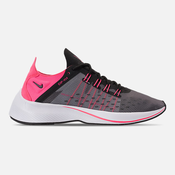 Right view of Girls' Big Kids' Nike Future Fast Racer Running Shoes in Black/Racer Pink/Dynamic Yellow