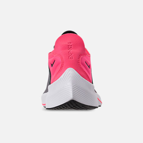 Back view of Girls' Big Kids' Nike Future Fast Racer Running Shoes in Black/Racer Pink/Dynamic Yellow