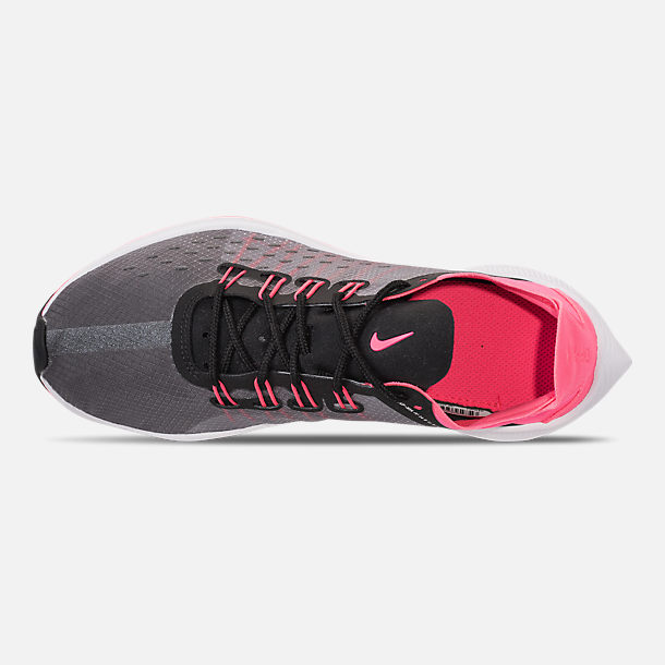 Top view of Girls' Grade School Nike Future Fast Racer Running Shoes in Black/Racer Pink/Dynamic Yellow