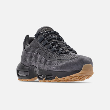 Three Quarter view of Men's Nike Air Max 95 SE Casual Shoes in Anthracite/Black