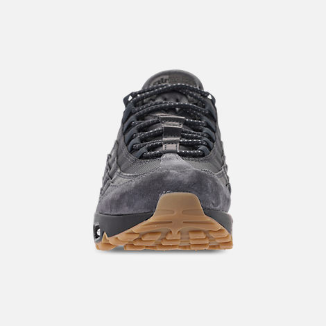 Front view of Men's Nike Air Max 95 SE Casual Shoes in Anthracite/Black