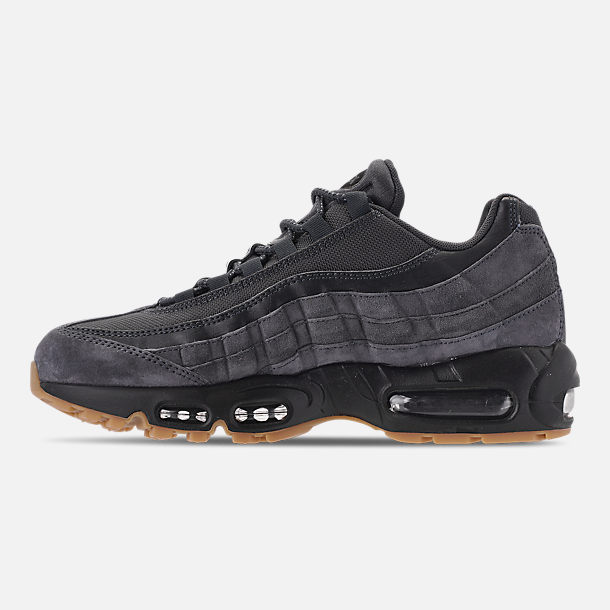 Left view of Men's Nike Air Max 95 SE Casual Shoes in Anthracite/Black