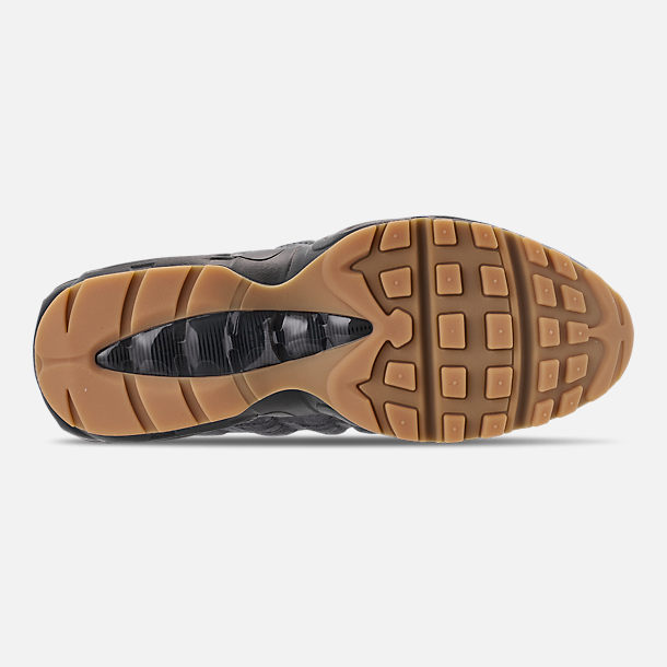 Bottom view of Men's Nike Air Max 95 SE Casual Shoes in Anthracite/Black