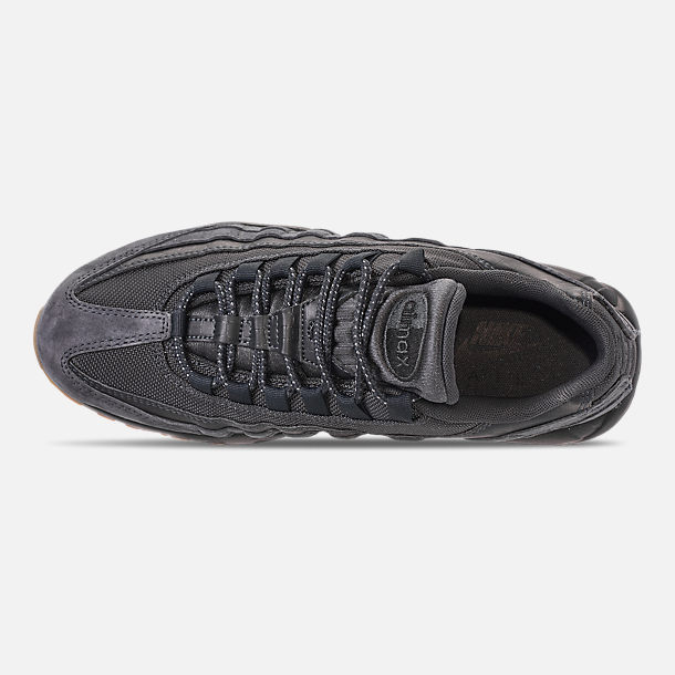 Top view of Men's Nike Air Max 95 SE Casual Shoes in Anthracite/Black