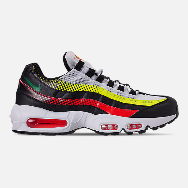 lowest price 4219b 7512e Right view of Men s Nike Air Max 95 SE Casual Shoes in Black Aloe Verde