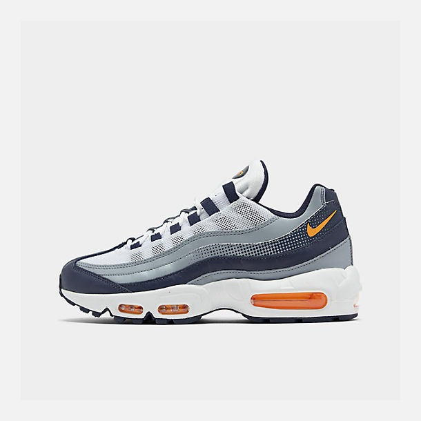 Right view of Men's Nike Air Max 95 SE Casual Shoes in Midnight Navy/Laser Orange/White