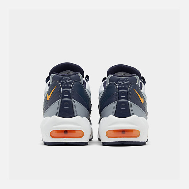 Left view of Men's Nike Air Max 95 SE Casual Shoes in Midnight Navy/Laser Orange/White