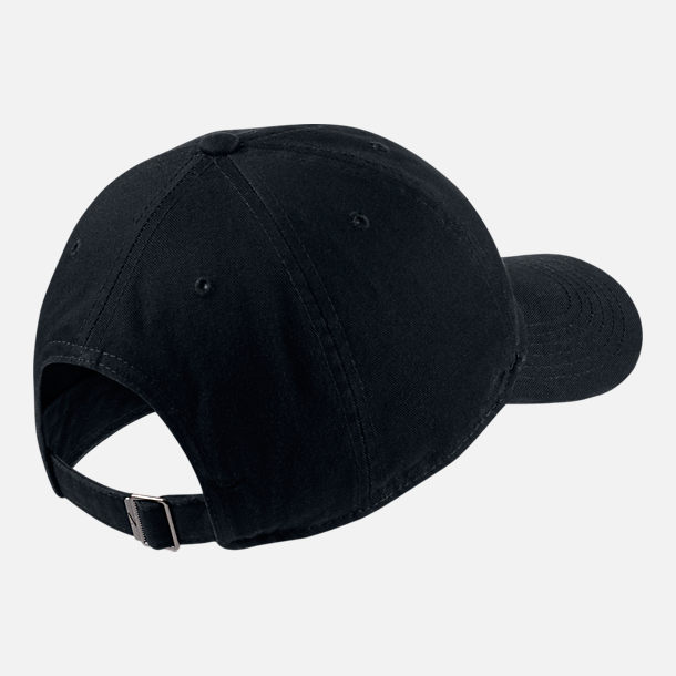 Back view of Kids' Nike Heritage86 Strapback Hat in Black/White